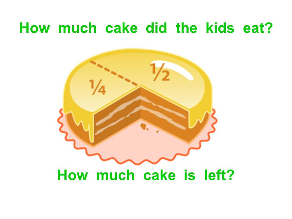 How much cake did the kids eat