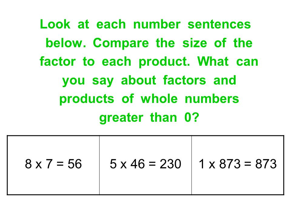 Look at each number sentences below. Compare the size of the