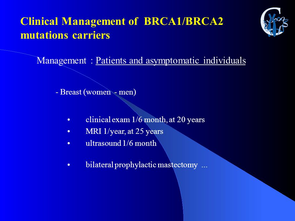 Clinical Management of BRCA1/BRCA2 mutations carriers