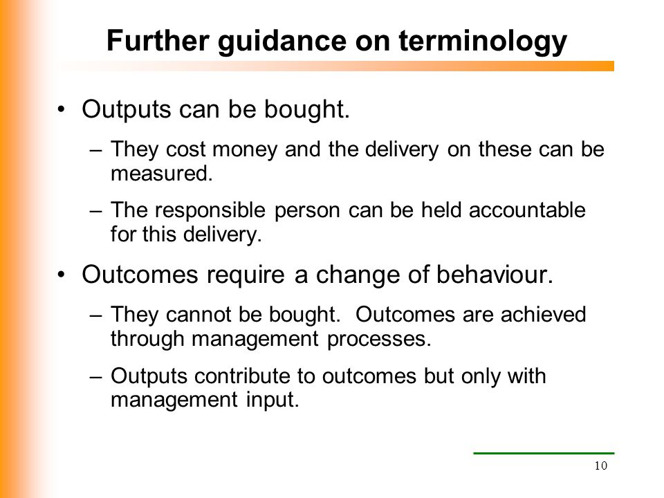 Further guidance on terminology
