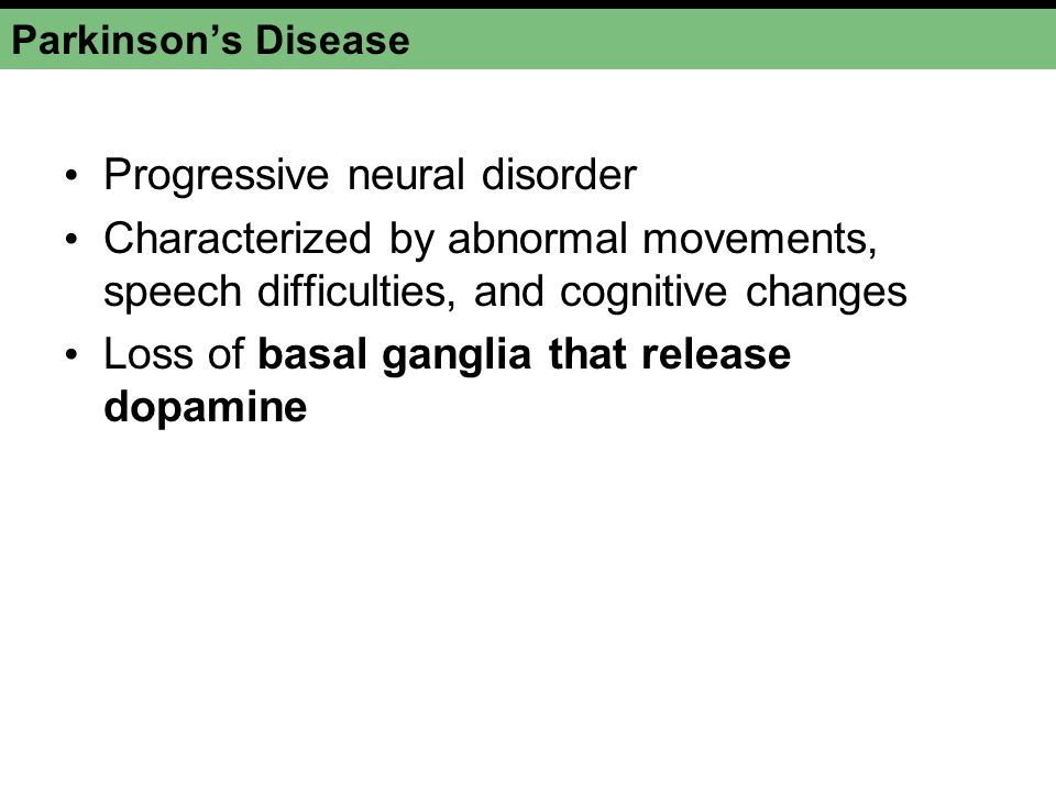 Progressive neural disorder