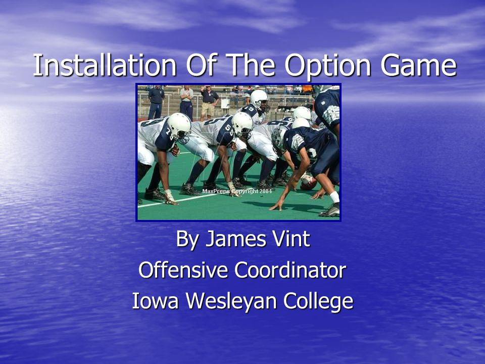 Installation Of The Option Game