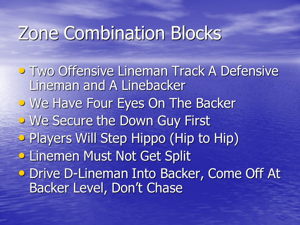 Zone Combination Blocks