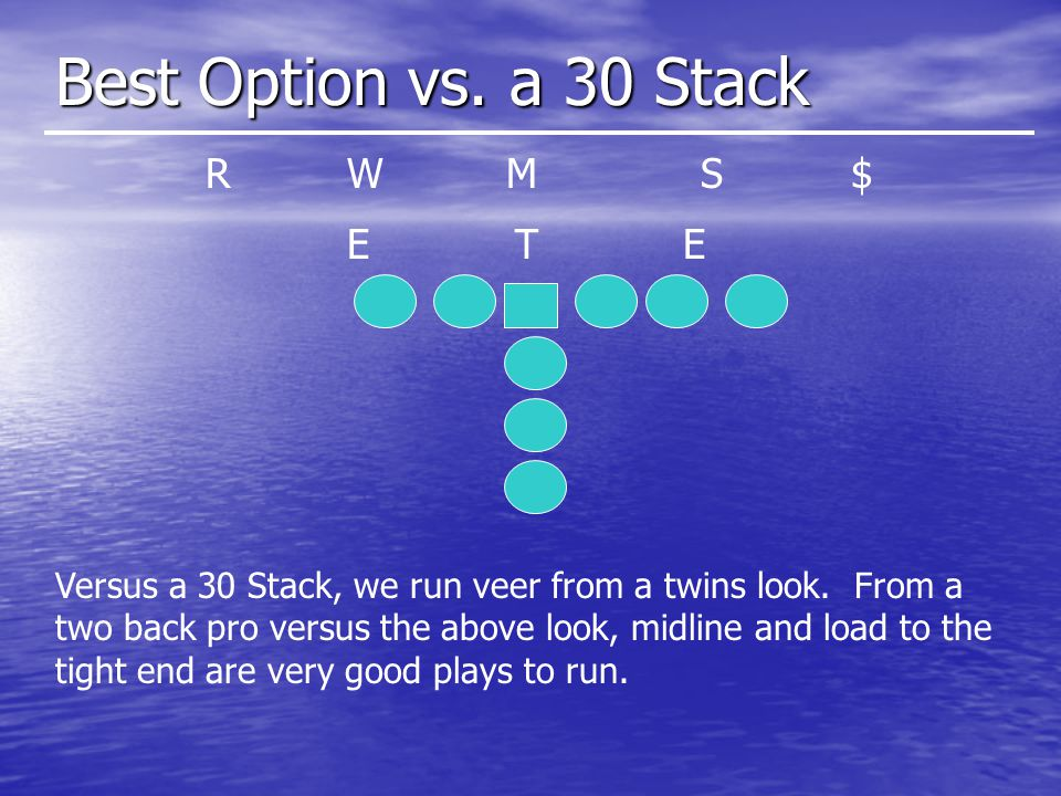 Best Option vs. a 30 Stack R W M S $ E T E