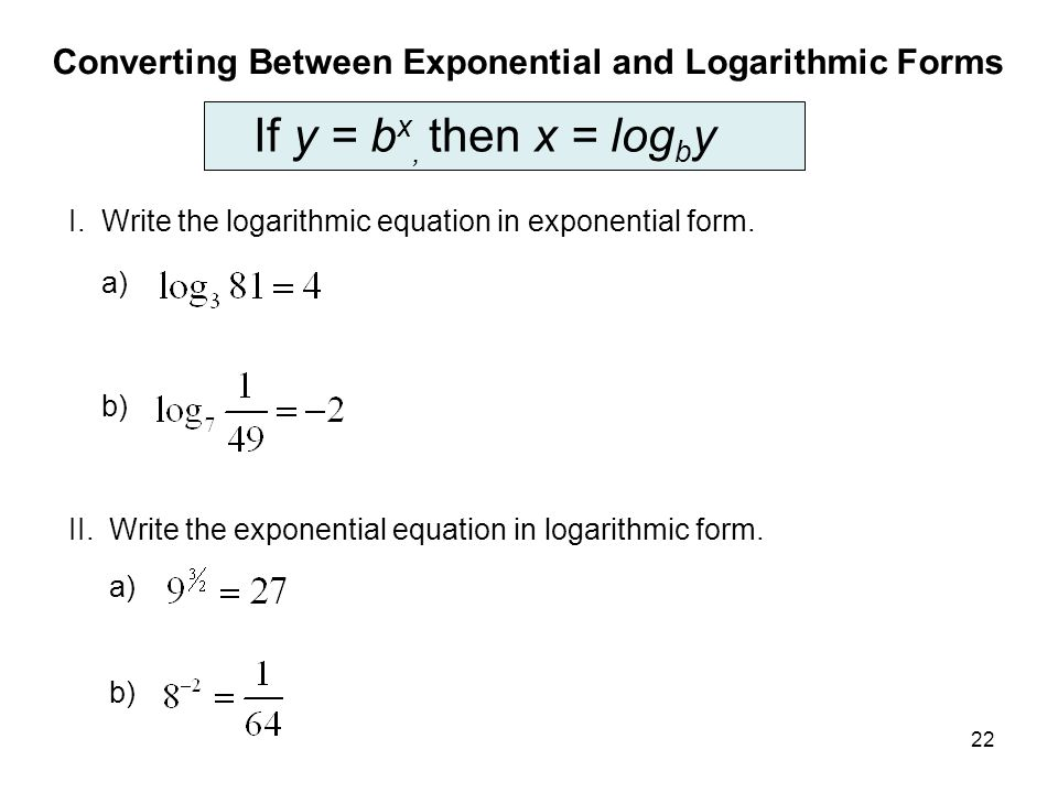 Graphs on Logarithmic and Semi-Logarithmic Axes