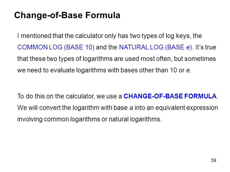 Change-of-Base Formula