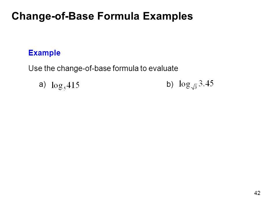 Change-of-Base Formula Examples