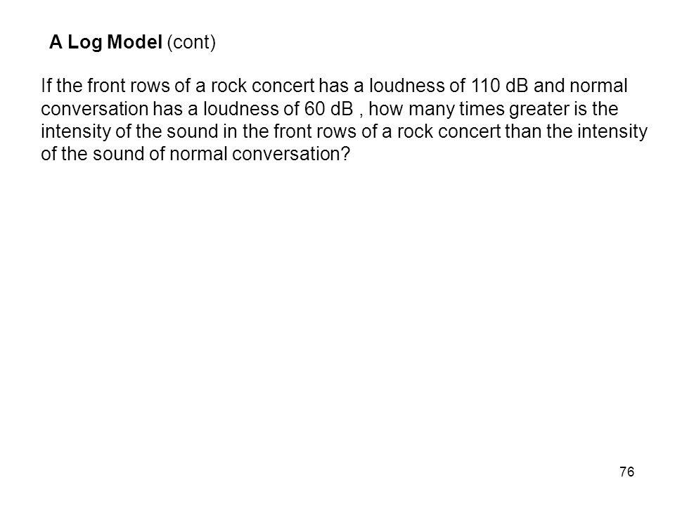 A Log Model (cont)