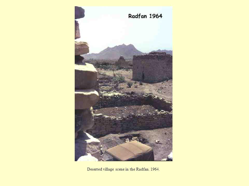 Deserted village scene in the Radfan. 1964.