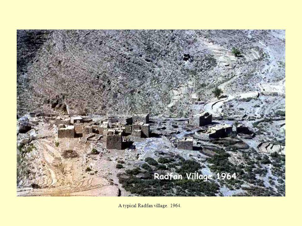 A typical Radfan village. 1964.