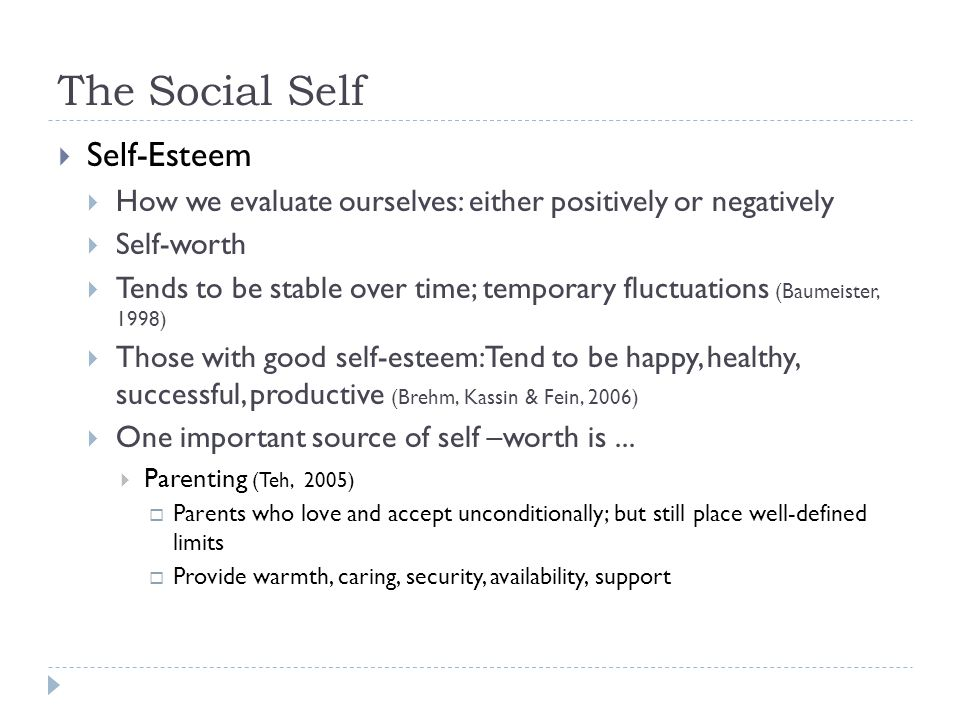 The Social Self Self-Esteem