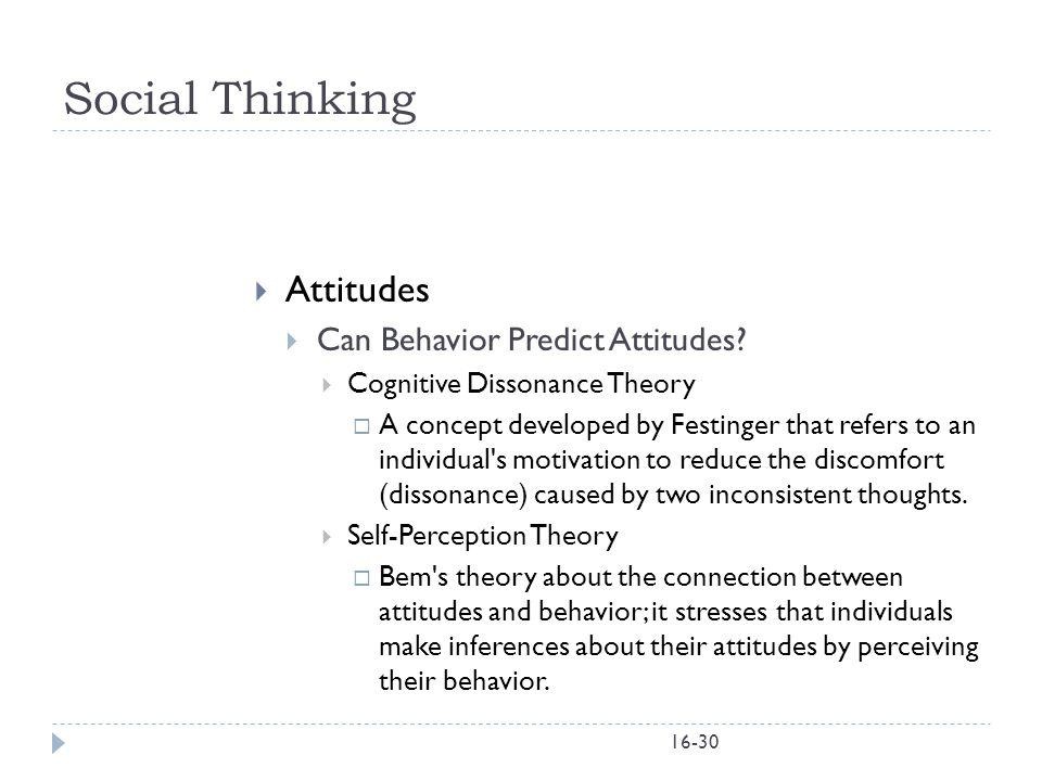 Social Thinking Attitudes Can Behavior Predict Attitudes