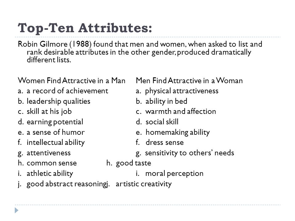 Top-Ten Attributes:
