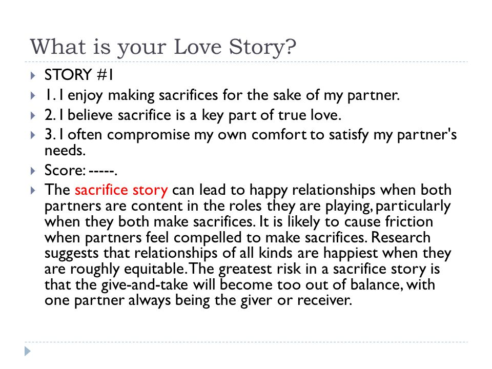 What is your Love Story STORY #1