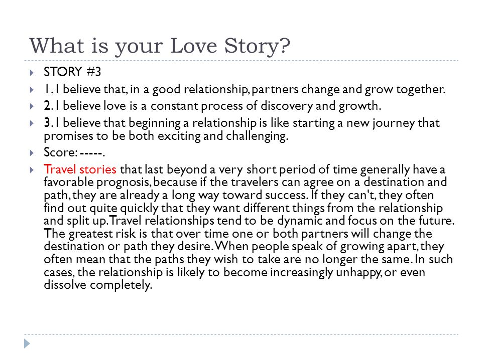 What is your Love Story STORY #3