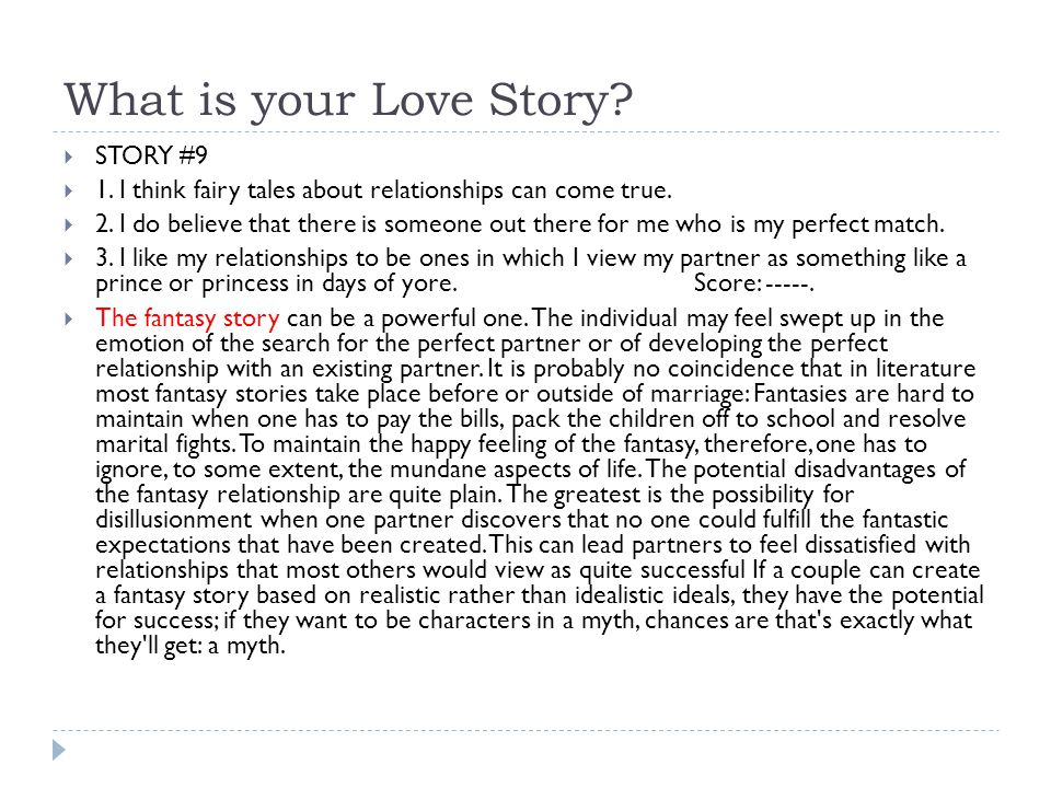 What is your Love Story STORY #9