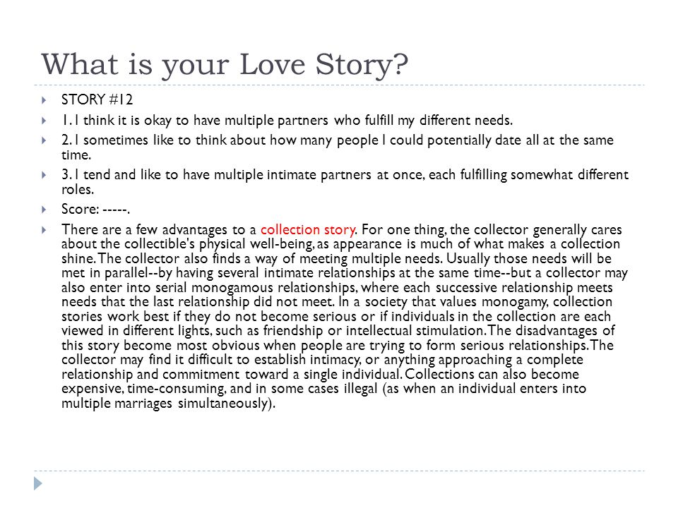 What is your Love Story STORY #12