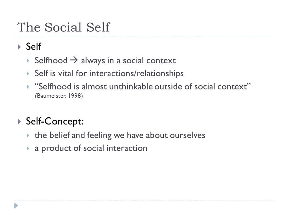 The Social Self Self Self-Concept: