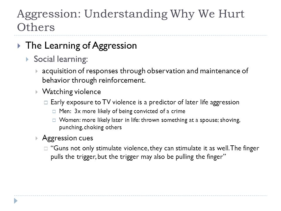 Aggression: Understanding Why We Hurt Others