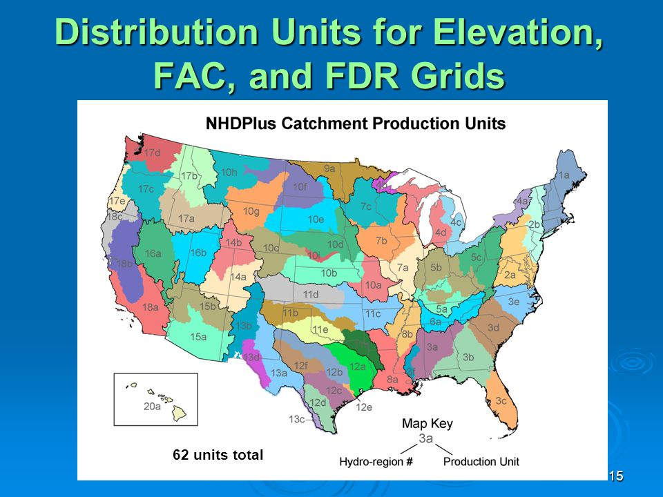 Distribution Units for Elevation, FAC, and FDR Grids