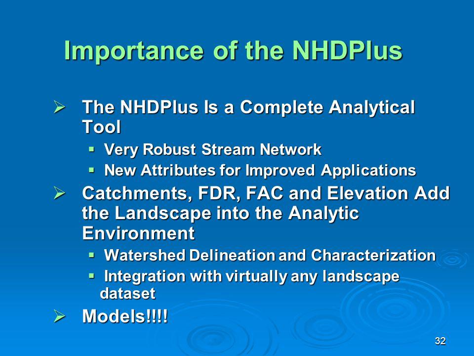 Importance of the NHDPlus