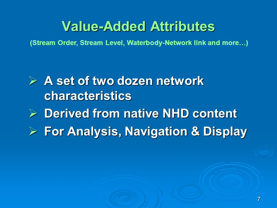 Value-Added Attributes