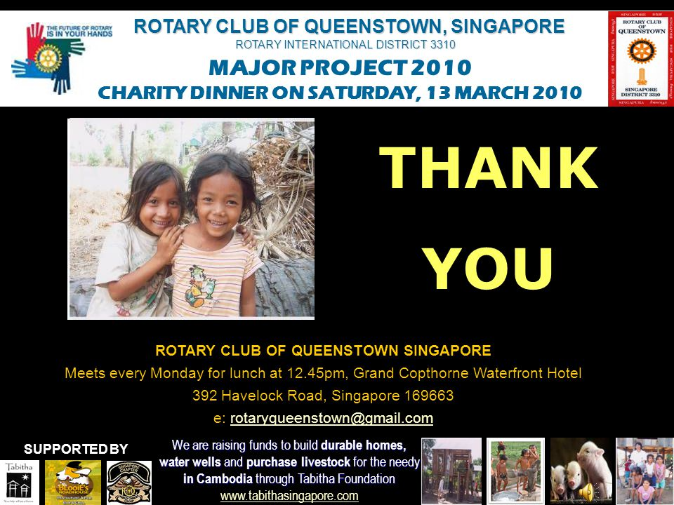 ROTARY CLUB OF QUEENSTOWN SINGAPORE