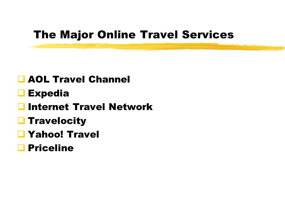 The Major Online Travel Services