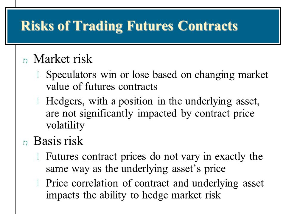 Risks of Trading Futures Contracts