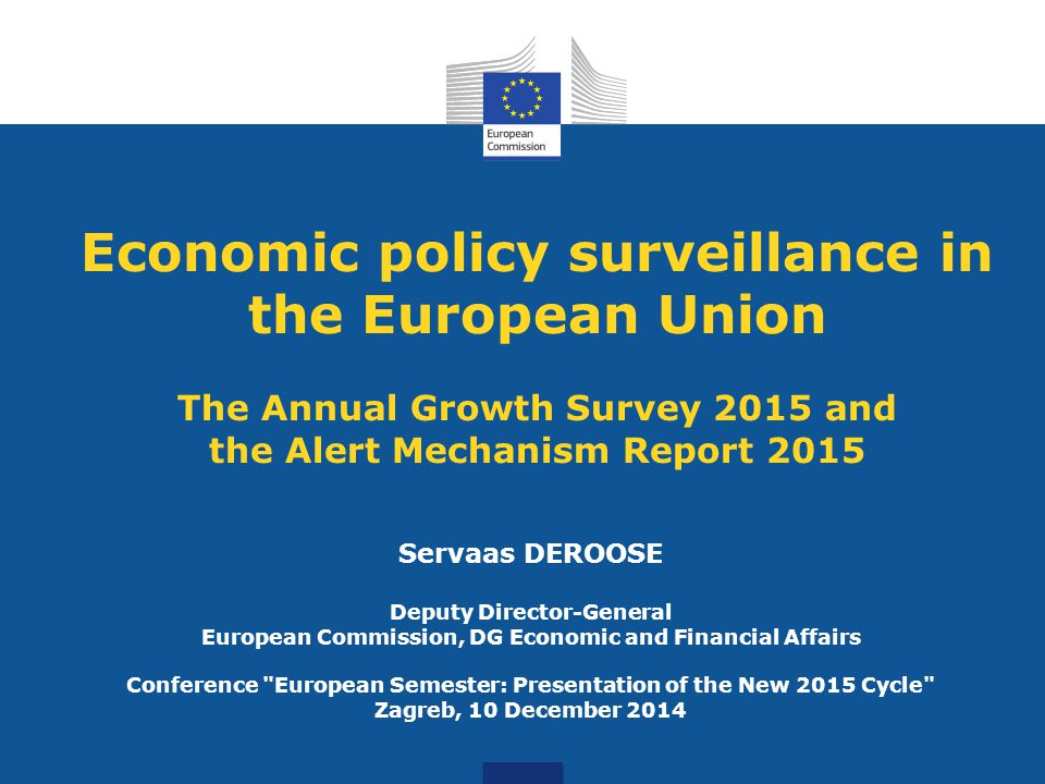 Conference European Semester: Presentation of the New 2015 Cycle