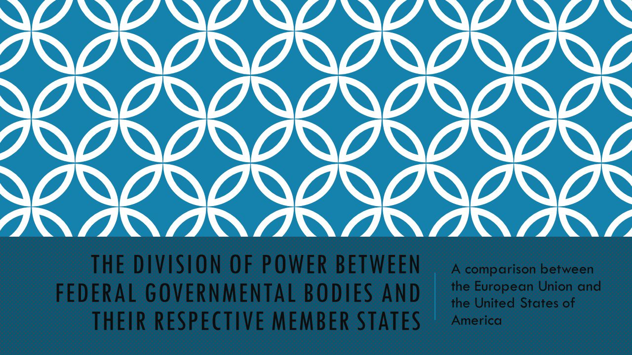 The Division of power between federal governmental bodies and their respective member states