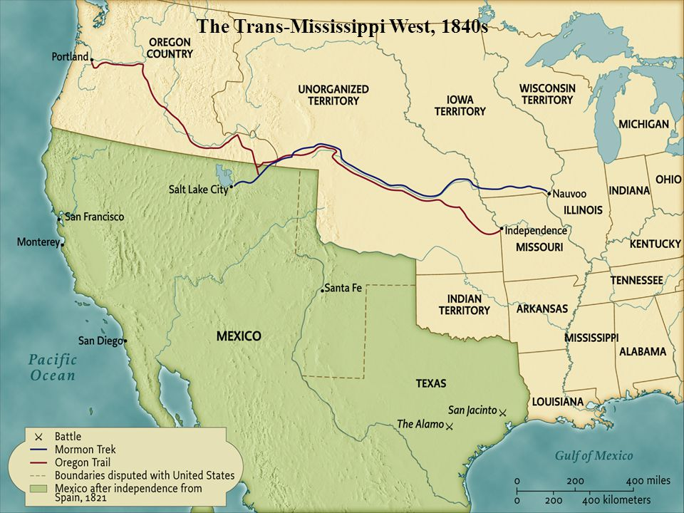 The Trans-Mississippi West, 1840s • pg. 461