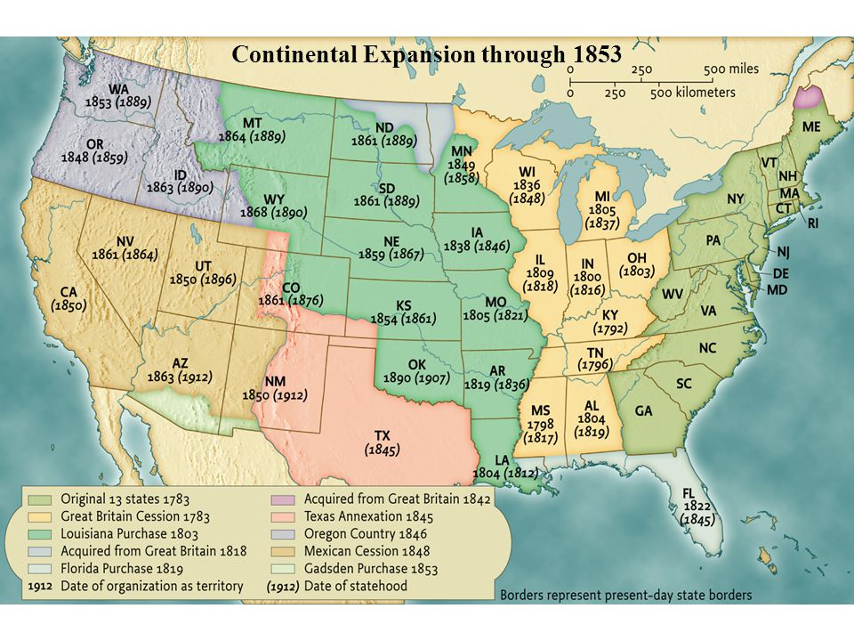 Continental Expansion through 1853 • pg. 471