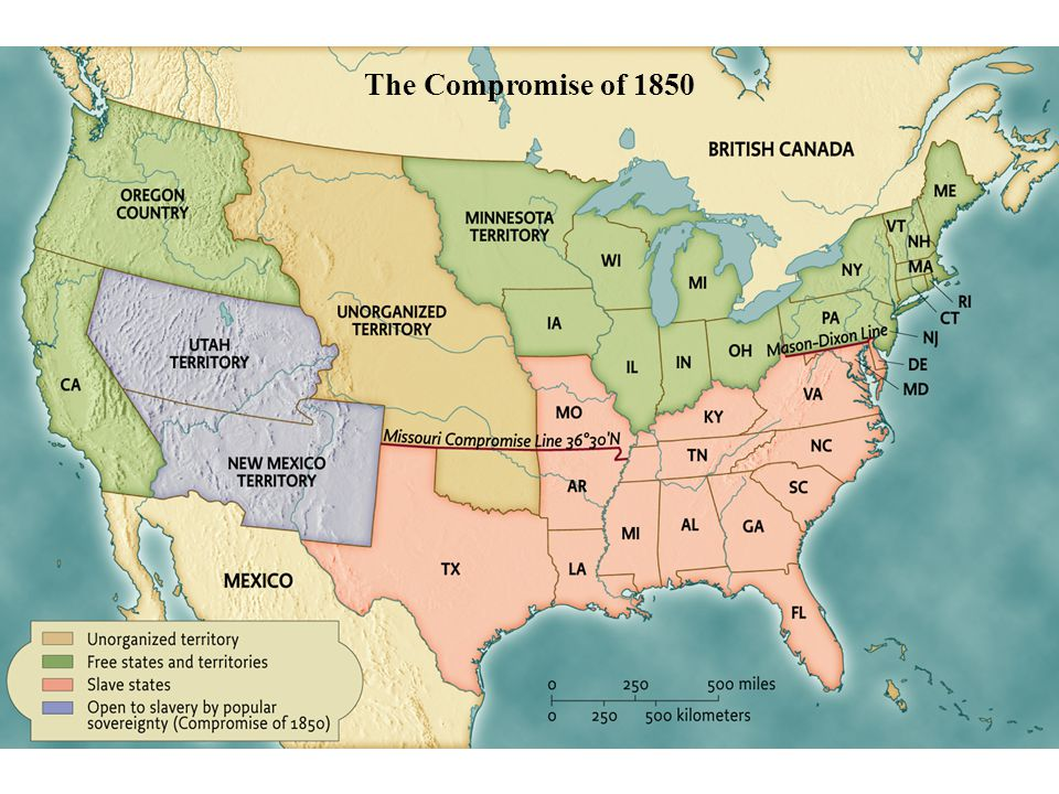 The Compromise of 1850 • pg. 475 The Compromise of 1850
