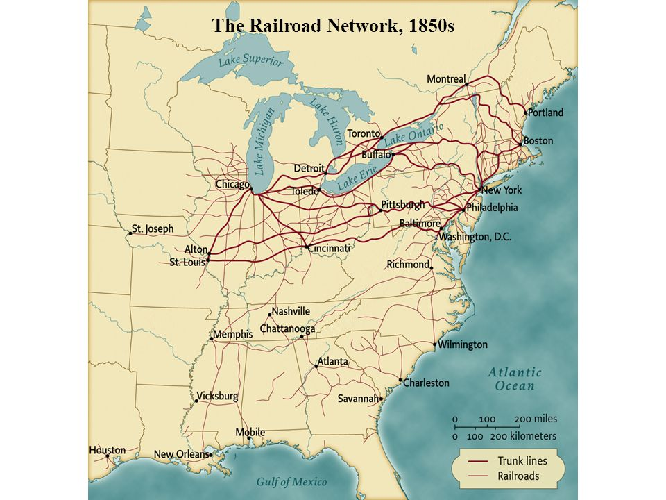 The Railroad Network, 1850s • pg. 478