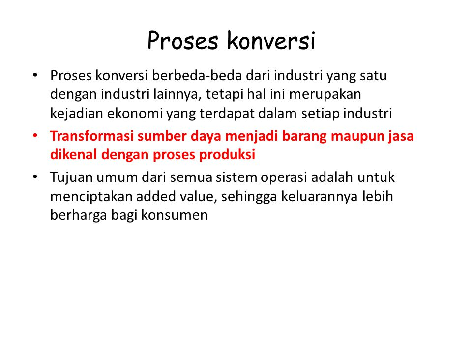 Proses konversi