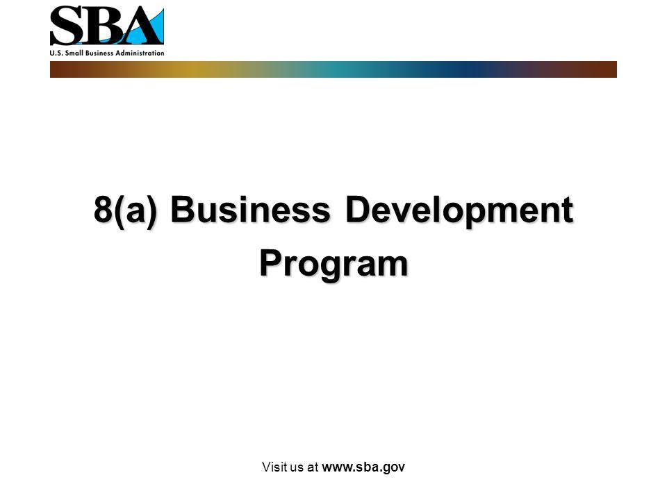 8(a) Business Development Program