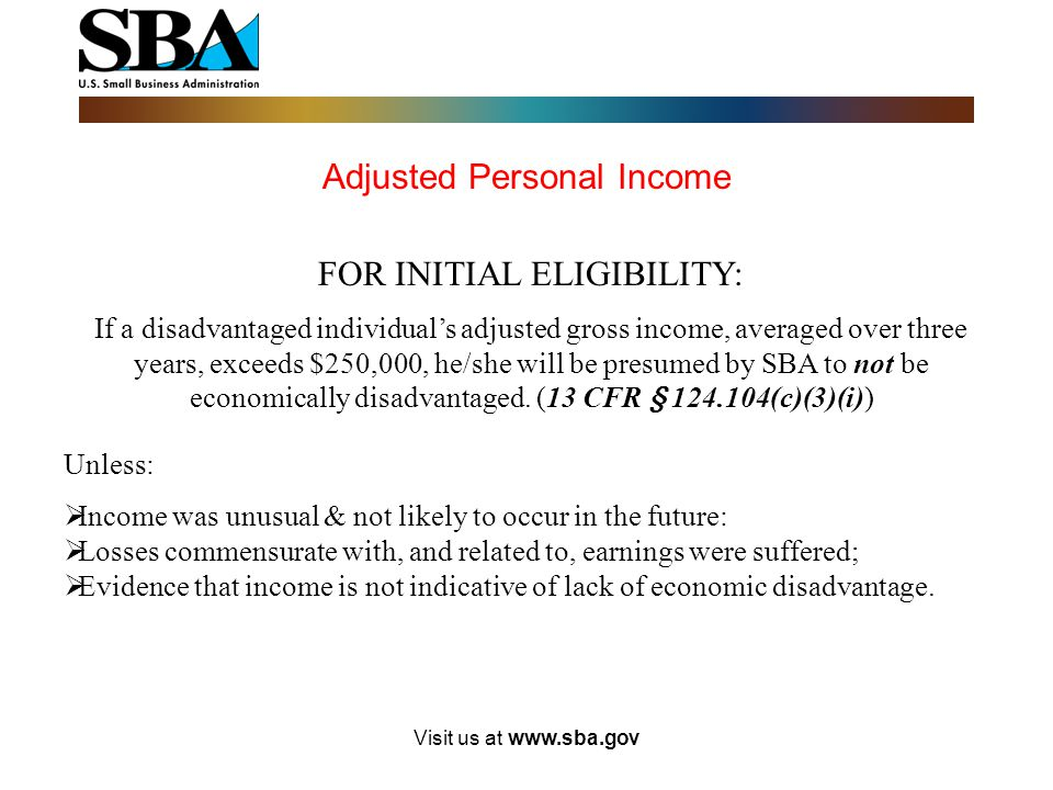 Adjusted Personal Income