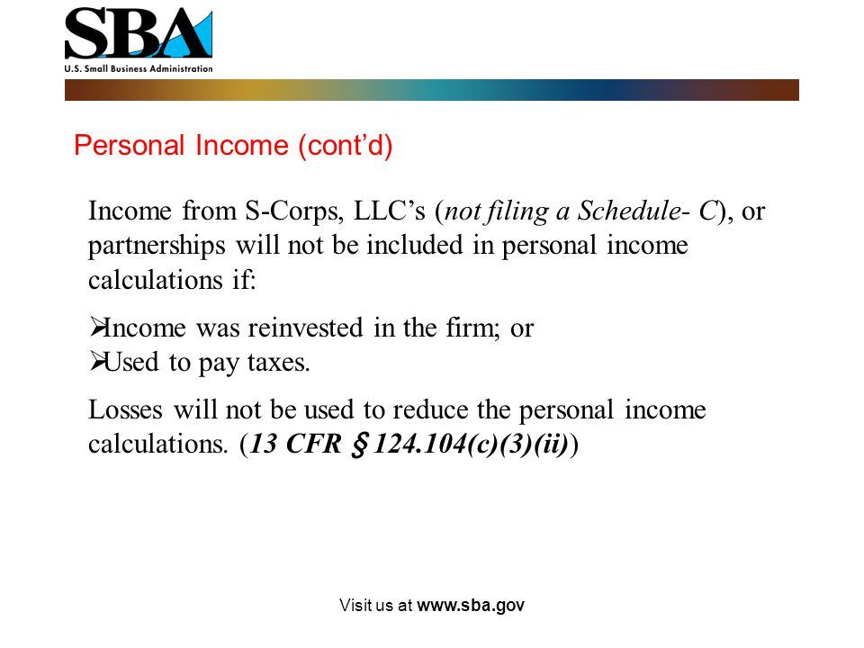 Personal Income (cont'd)