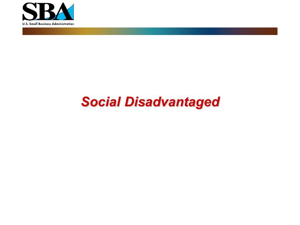 Social Disadvantaged