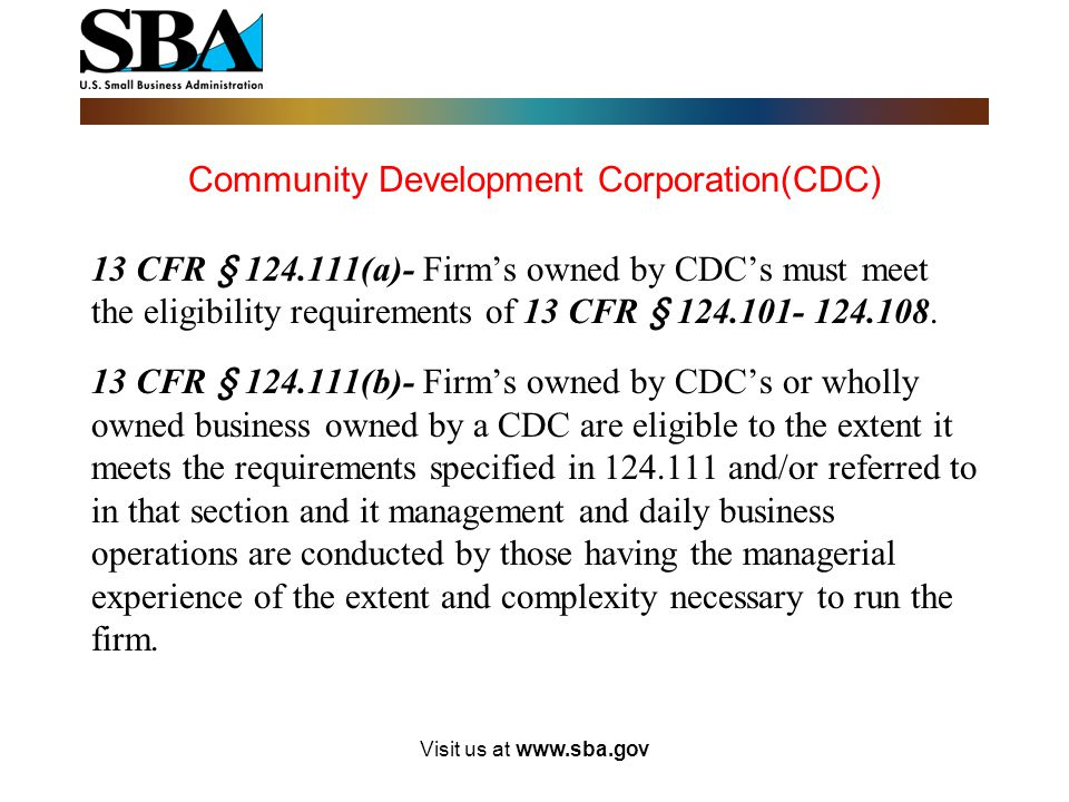 Community Development Corporation(CDC)