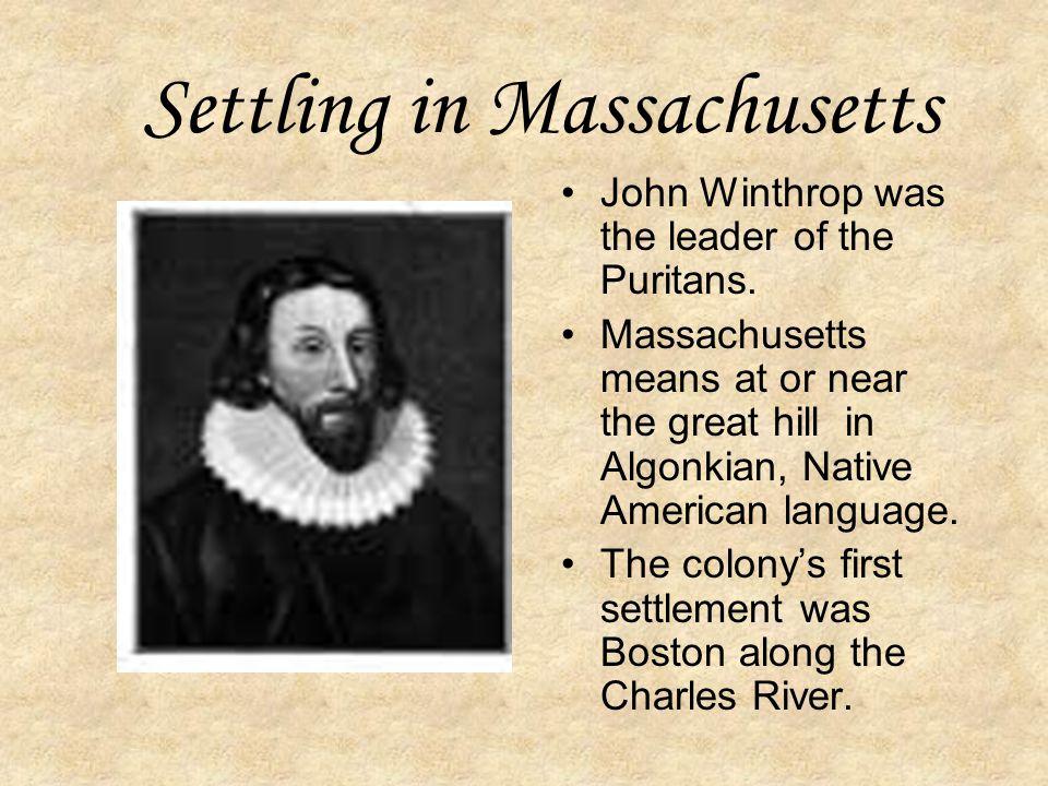 Settling in Massachusetts