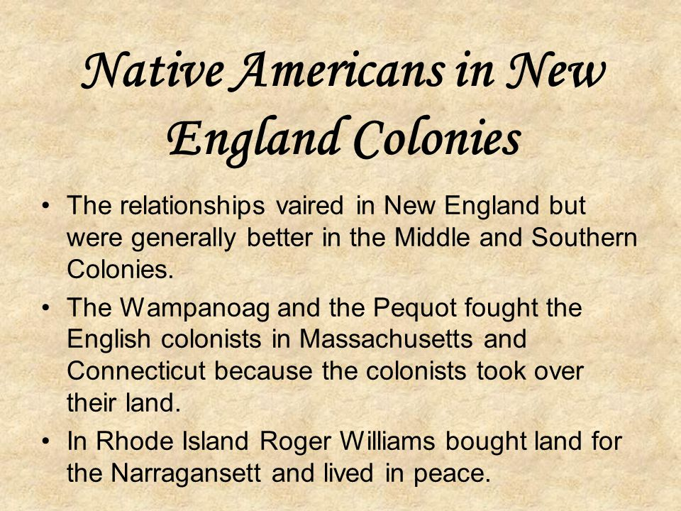 Native Americans in New England Colonies
