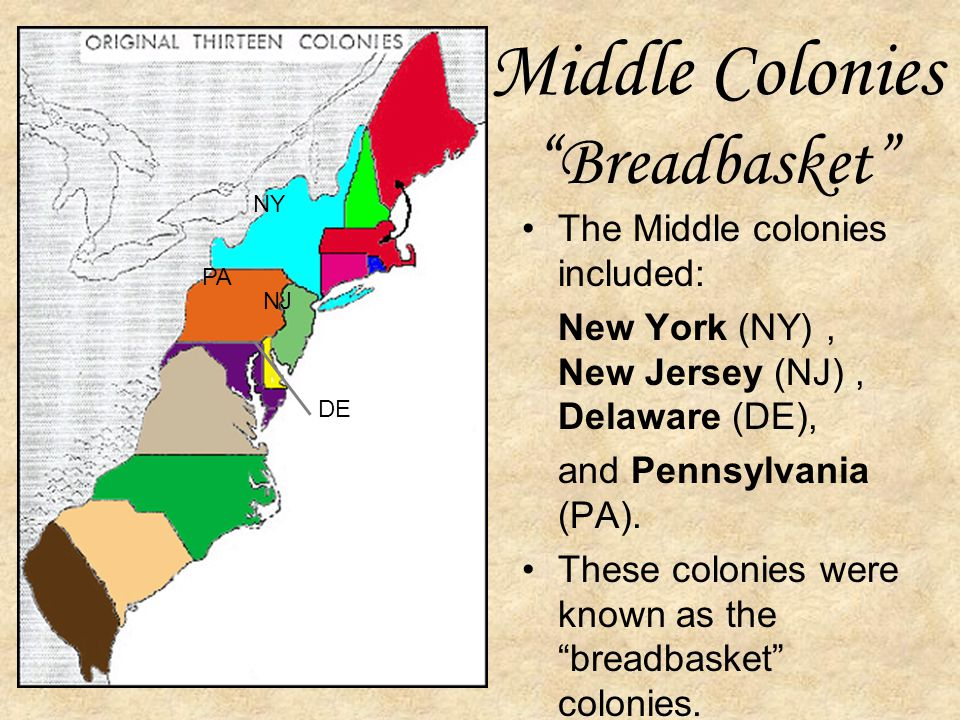 Middle Colonies Breadbasket