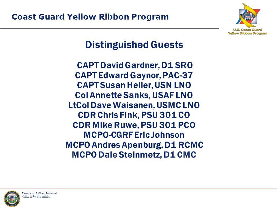 Coast Guard Yellow Ribbon Program