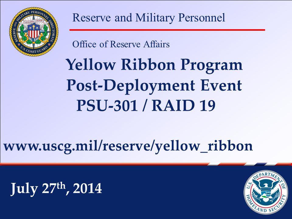 Ombudsman Cathy Uhl Coast Guard Yellow Ribbon Program