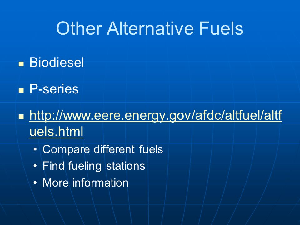 Other Alternative Fuels