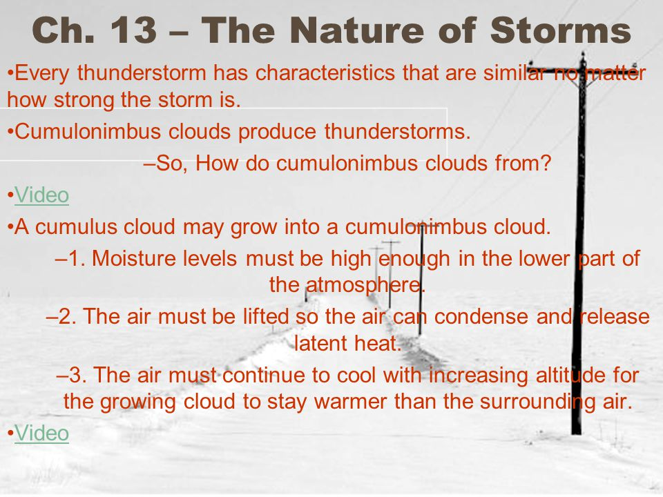 Ch. 13 – The Nature of Storms
