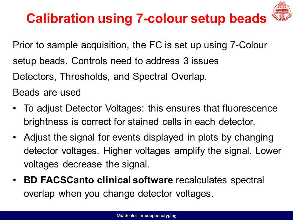 Calibration using 7-colour setup beads