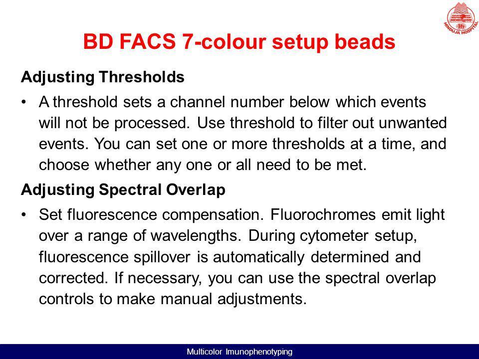 BD FACS 7-colour setup beads